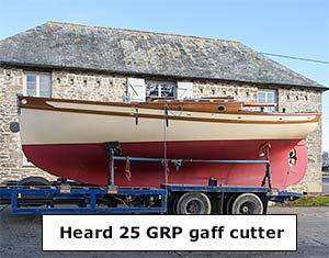 Heard 25 gaff cutter for sale